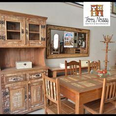 Loja de móveis Terra Nossa, muitos modelos para pronta entrega e pode ser feito sobre medida. Móveis de Madeira de Demolição para sala, quarto, varanda e cozinha