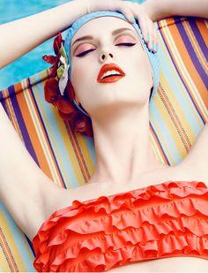 Pin Up Girl Lifestyle:: Vintage Girl:: Retro Vintage Swim, Moda Vintage, Retro Swim, Retro Vintage, Beauty Editorial, Editorial Fashion, Summer Editorial, Beauty Photography, Fashion Photography
