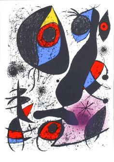 L'Encre, 1972, Original Edition Lithograph, Joan Miró #Surrealism