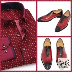 🇨🇦🇨🇦Happy Canada Day🇨🇦🇨🇦! Wear red today and look redically different  ♦️Red fashion shirt  ♦️Red leather shoes    Order here 🎯     #redshoes #redpolo #redshirt #leathershoes #businnesslook #trendyoutfit #runyourstyle #runit365