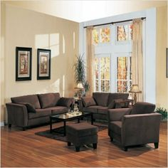 Bundle-82 Holtville Sofa and Loveseat Set (4 Pieces) by Wildon Home. $2083.72. [***INCLUDED IN THIS SET: (1)Holtville Velvet Sofa, (1)Holtville Microfiber Loveseat, (1)Holtville Velvet Armchair, (1)Holtville Microfiber Ottoman] Features: -Limited time only! FREE Blue Lake Coffee Table by Wildon Home.-Casual style.-Loose pillow.-Contemporary flair tapered arms.-A soft and breathable brown microfiber upholstery.-Exposed tapered block legs.-Loose throw pillows in a matching...
