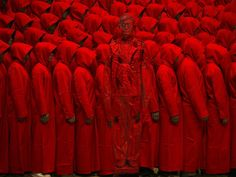 Liu Bolin, Hiding in the City - Red No. 2, 2012, Klein Sun Gallery