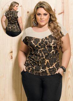 Lindas blusas plus size. Plus Size Tips, Looks Plus Size, Curvy Plus Size, Moda Plus Size, Plus Size Casual, Trendy Plus Size, Plus Size Dresses, Plus Size Outfits, Curvy Fashion