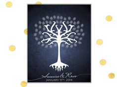 White Tree of Gondor Thumb Print Wedding Guest Book Alternative by Chameleon Weddings!