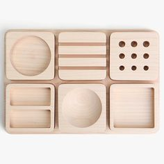Maple Wood Desk Organizer
