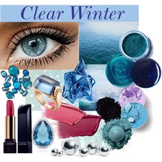 Eye Color Inspirations - Clear Winter by prettyyourworld on Polyvore featuring beauty, Lancôme, Lime Crime, Hourglass Cosmetics, Thierry Mugler, RGB, Jin Soon, Bulgari, Dolce Giavonna and blomus