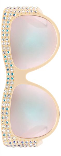 Gucci 56MM Oversized Sunglasses with Crystals