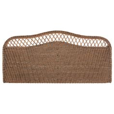 Choose this intricately woven antique gray rattan queen headboard for a feminine look in coastal and country bedrooms. Crafted in a combination of rattan and hardwoods, the allover weave and camelback design are spiffed up with airy open trellis work. Rattan Headboard, Full Headboard, Queen Headboard, Bedroom Crafts, Bedroom Decor, 70s Bedroom, Transitional Bedroom, Wood Dust, Colorful Furniture