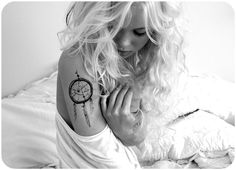 Dreamcatcher tattoo...love the size and the placement and im actually not that big on arm tattoos for girls