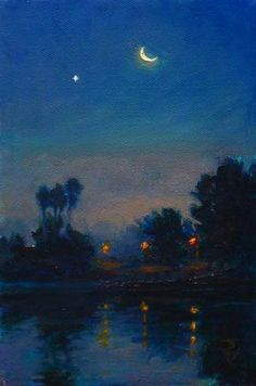 I have always loved the dimly lit style of nocturne paintings. Here are a few of them I really admire. Nocturne, Art Sketches, Art Drawings, Arte Van Gogh, Moon Art, Renaissance Art, Aesthetic Art, Aesthetic Painting, Aesthetic Wallpapers