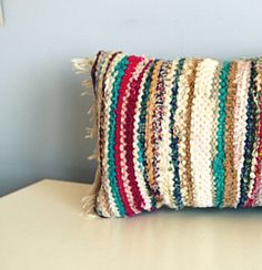 Vintage Rag Rug Pillow By Southrosewindow On Etsy