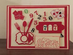 Geburtstagskarte _ Casinoeinladung Frame, Home Decor, Invitations, Birthday, Cards, Homemade Home Decor, A Frame, Frames, Hoop