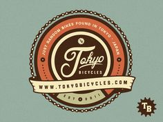 Color palette win. Lots of detail, but not overwhelming. Tokyo Bicycles Logo | Emir Ayouni