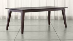 Steppe Solid Wood Dining Table -It doesn't expand, it's huge, but I like the design aesthetic of it!