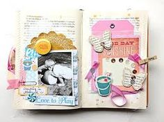 Image result for how to make an old book into a scrapbook