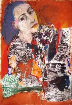 Fotini Hamidieli, mixed media on paper