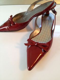 Ruby Red Patent Leather Shoes Ann Klein by TheFlyingBlueMonkey, $24.95