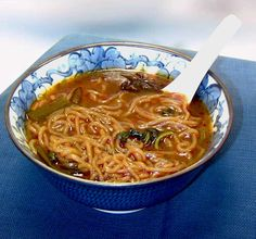 Low Carb and yummy!  Shirataki Noodles Recipes: Shirataki Noodles with Red Curry Broth