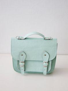 Leather Satchel Shoulder Strap on http://iluvetsy.tumblr.com/  #bag #mint #satchel #handmade #etsy #fashion
