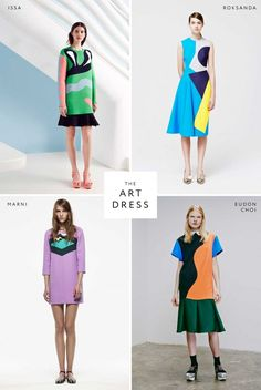 Resort the art dress. with particular attention to the roksanda, which is beautiful. Fashion Art, Kids Fashion, Womens Fashion, Fashion Design, Geometric Fashion, Mode Inspiration, Dream Dress, Fashion Details, Poses