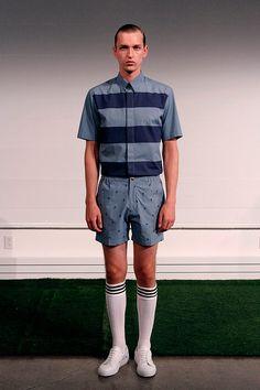 Carlos Campos coleccion primavera verano 2014 New York Fashion Week Gq, Button Down Shirt, Men Casual, Sporty, Mens Tops, Style, Fashion, Fields, Spring Summer