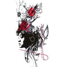 Risultati immagini per infinity feather trash polka Trash Polka Tattoos, Tattoo Trash, Dream Tattoos, Girl Tattoos, Tatoos, Tattoo Sketches, Tattoo Drawings, Trash Polka Art, Style Surf