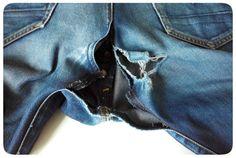 Reparer un jean troue / abime a l' entrejambe