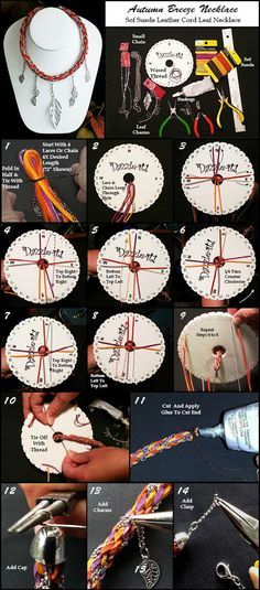 DIY Kumihimo Necklace | DIY kumihimo ketting | www.bykaro.nl voor kralen, bedels en meer...