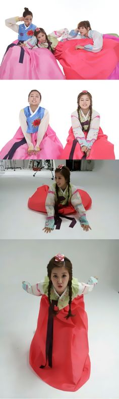 Apink Bomi and Chorong is both lovable and clumsy.