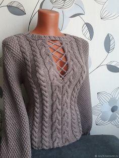 Вироби своїми руками Fashion k&g fashion Knitting Stiches, Sweater Knitting Patterns, Loom Knitting, Knitting Designs, Free Knitting, Knitting Projects, Baby Knitting, Pull Bebe, Handarbeit