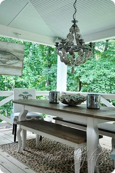 This is the BEST screen porch remodel! Love everything she did!