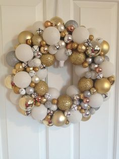Another ornament wreath I made. This one is for my sister, Devon.