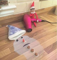 Elf Melting Frosty the Snowman.these are the BEST Elf on the Shelf ideas for C. : Elf Melting Frosty the Snowman.these are the BEST Elf on the Shelf ideas for C. Christmas Elf, All Things Christmas, Christmas Ideas, Christmas Pranks, Christmas Wrapping, Christmas Goodies, Funny Christmas, Christmas Wishes, Christmas Decor
