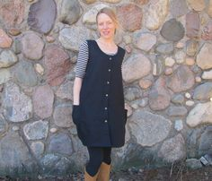Hemp Linen Snap Smock by consciousclothing on Etsy