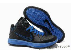 2012 Nike Lunarlon Hypergamer Shoes Black Blue 2013