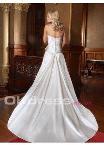 A-Line Sleeveless Chapel Train 2014 Wedding Dresses