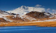Nanga parbat world's 9th highest peak himalayas, behind sheosar lake deosai plains