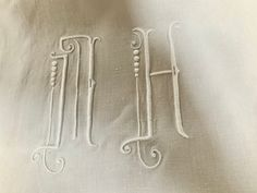 Unused Antique French pure linen sheet. French pure linen. Pure linen bedding. Monogrammed linen. French decor. #frenchpurelinen #frenchdowry #purelinensheet #antiquepurelinen #monogrammedlinen #handembroidery #frenchlinen Linen Sheets, Linen Bedding, Fancy Hands, Art Deco Bathroom, Linen Fabric, Hand Sewing, Weaving, Monogram, Pure Products