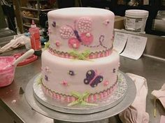 torta con mariposas para baby shower - Buscar con Google