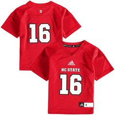 #16 NC State Wolfpack adidas Preschool Replica Football Jersey - Red - $44.99