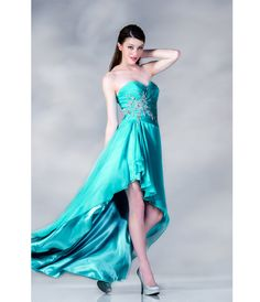 Mint Strapless Chiffon Gown
