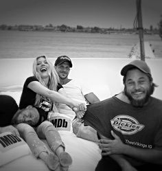 IMDb yacht at San Diego Comic Con... Travis Fimmel, Alex Ludwig, Gustaf Skarsgård, and Kathryn Winnick 2016