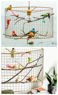 This Bird Light Is The Internets Latest Obsession Birdcage Light, Birdcage Lamp, Fireplace Lighting, Home Design Diy, Interior Design, Gift Wraping, I Love Lamp, Crochet Birds, Art Deco Pattern