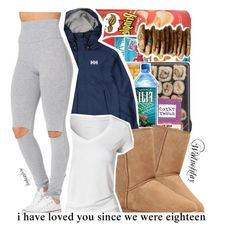 """""""Outfit today"""" by leah143love ❤ liked on Polyvore featuring UGG Australia, Helly Hansen and Calvin Klein"""