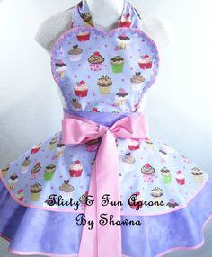 Purple Cupcake Apron by sjcnace4 on Etsy, $55.00