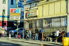 Glide Food Line In The Tenderloin, San Francisco By Mitchell Funk