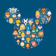 The most cutified Disney characters! I had no idea where to pin this, but it needed to go on one of my boards, because I can't stop squeeing!
