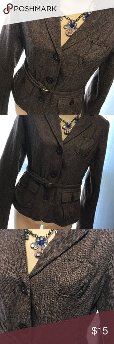 American Eagle brown Blazer Size small American Eagle brown/tweed Blazer Size S/P. Super cute. Fully lined. Only worn a couple times! Look at my other items bundle up and save $$$$!!! American Eagle Outfitters Jackets & Coats Blazers