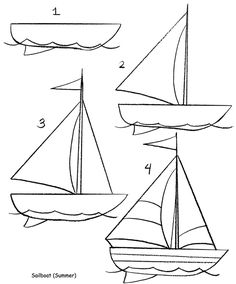 Learn how to draw a sailboat