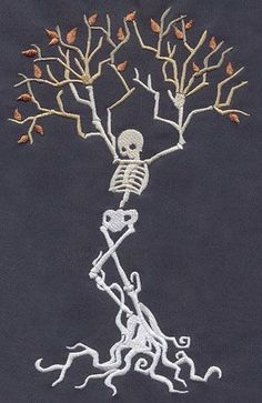 Skeleton Tree design (UT3852) from UrbanThreads.com